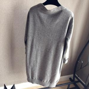 Wool Knit Sweater Jacket