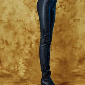 2014 the new black PU leather pants..