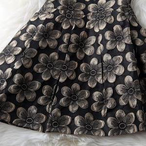 Hollow Embroidered Flowers Dress