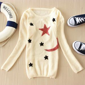 Fashion Stars Moon Designs Sweater