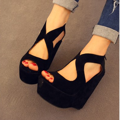 women summer Wedge High heels Platform shoes sandal shoe