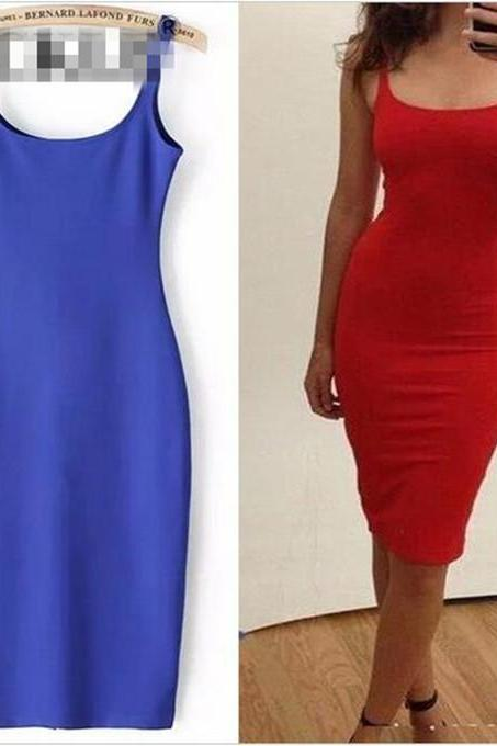 7 Colour Women Simple Casual Dress Simple Brand Designer Sleeveless American Apparel Summer Style dresses Tango Vestidos