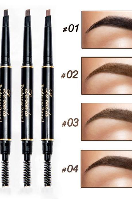 4PC Professional Double-end Eyes Makeup Waterproof Eyebrow Pencils Black Brown Natural Eye Brow Pen Cheap Make Up