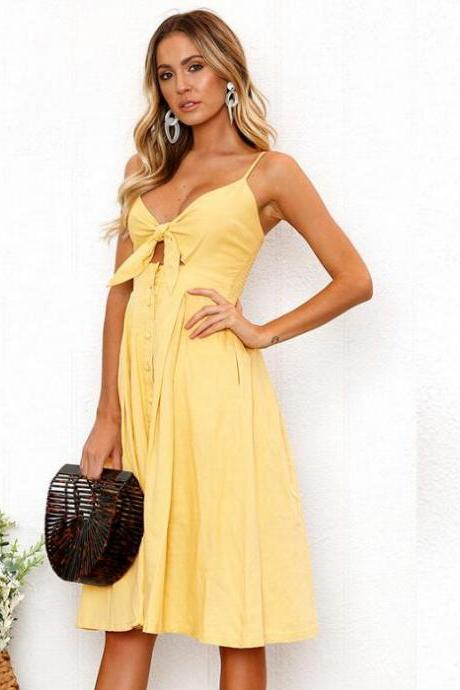 Women's Sexy Strapless Sling Dress Solid Color Dress