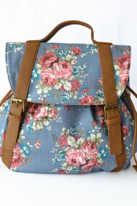Fresh Summer Floral Printed Backpack