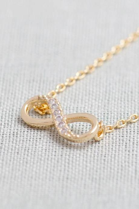 Tiny Infinity Necklace In Gold