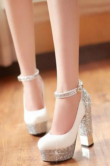 Thick with sequins for women's shoes