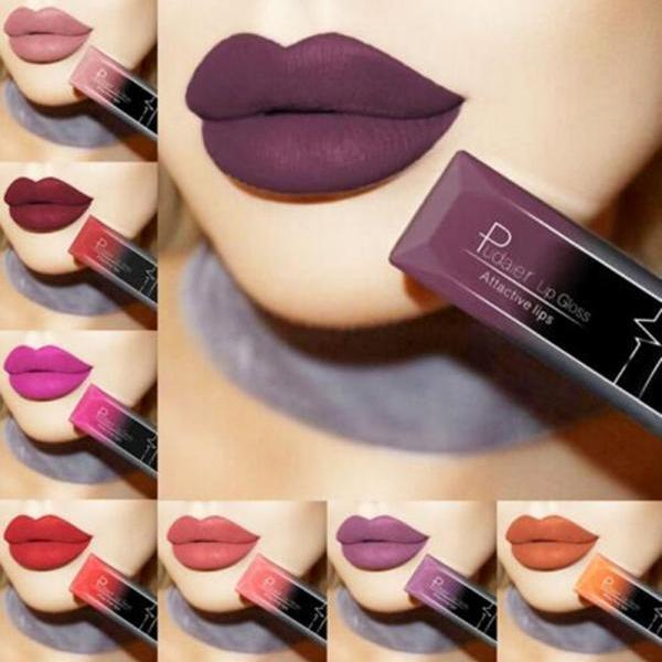 Waterproof Nude Matte Velvet Glossy Lip Gloss Lipstick Lip Balm Sexy Red Lip Tint 21 Colors Women Fashion Makeup Gift