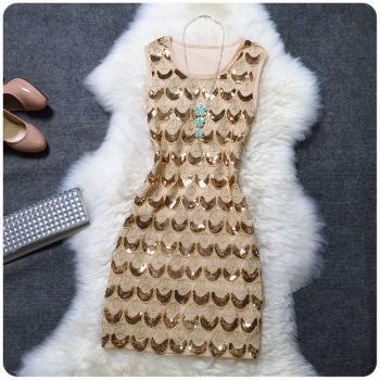 Fashion Style Embroidered With Sequins Dress