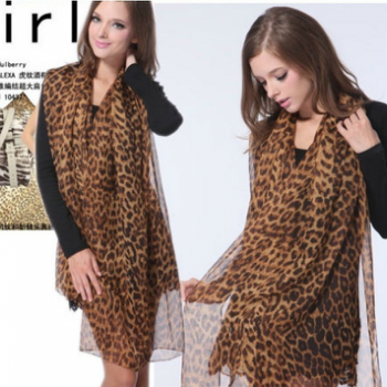 Leopard grain silk scarves
