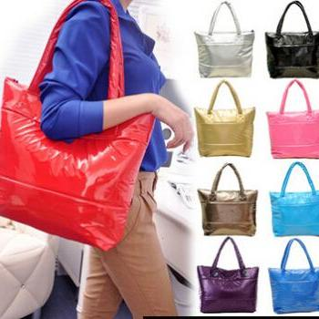 Women Handbag Winter Cotton Handbags Fashion Woman Bag 9 Color Retro Lady Shoulder Bags Warm Leisure Totes