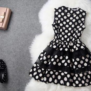 High Quality Sweet Polka Dots Lace Dress