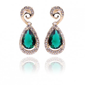 Europe and the United States drop shaped zircon Diamond Earrings