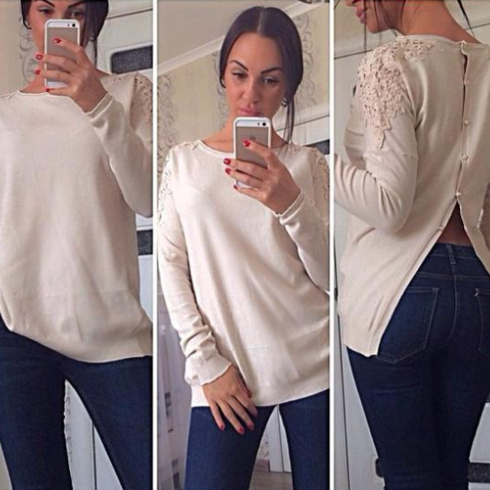 hot sale women clothes 2014 new women's autumn and winter fashion lady round neck long sleeve sweater lady leisure shirt